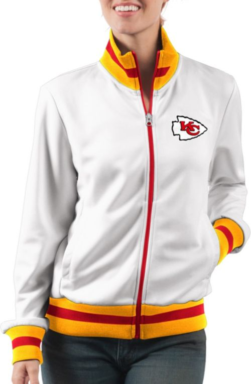 c0bcb3be93888 ... Women s Kansas City Chiefs Field Goal Rhinestone Track Jacket.  noImageFound. Previous