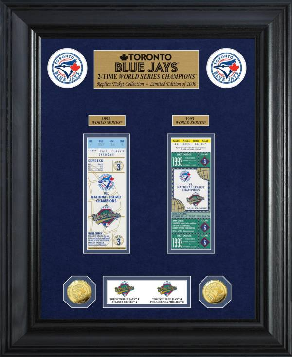 Highland Mint Toronto Blue Jays World Series Deluxe Gold Coin & Ticket Collection product image