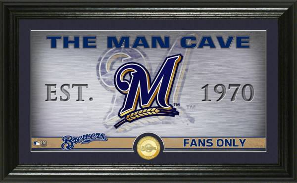 Highland Mint Milwaukee Brewers Man Cave Panoramic Bronze Coin Photo Mint product image