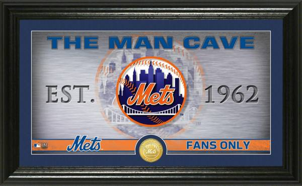 Highland Mint New York Mets Man Cave Panoramic Bronze Coin Photo Mint product image