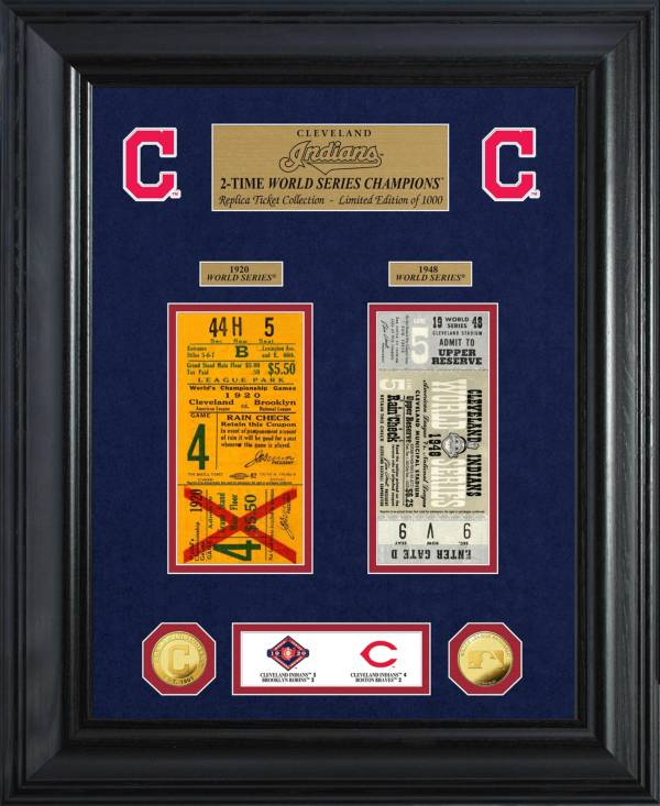 Highland Mint Cleveland Indians World Series Deluxe Gold Coin & Ticket Collection product image