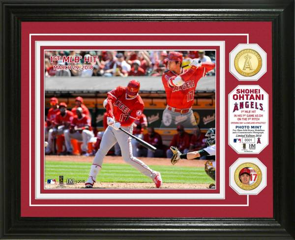 Highland Mint Los Angeles Angels Shohei Ohtani First Hit Bronze Coin Photo Mint product image