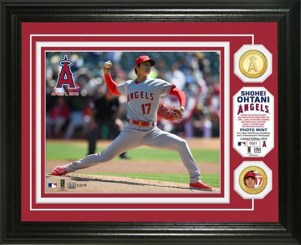 Highland Mint Los Angeles Angels Shohei Ohtani Pitching Debut Bronze Coin Photo Mint product image