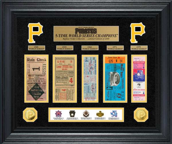 Highland Mint Pittsburgh Pirates World Series Deluxe Gold Coin & Ticket Collection product image