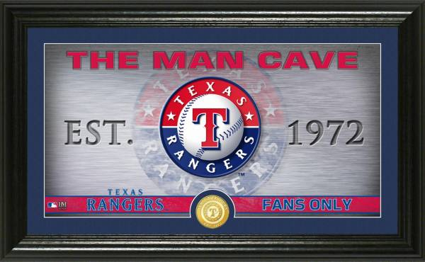 Highland Mint Texas Rangers Man Cave Panoramic Bronze Coin Photo Mint product image