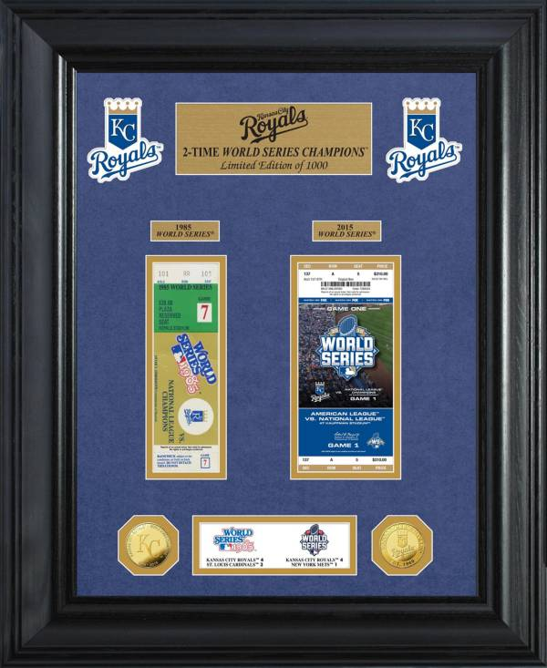 Highland Mint Kansas City Royals World Series Deluxe Gold Coin & Ticket Collection product image