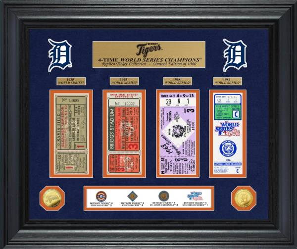 Highland Mint Detroit Tigers World Series Deluxe Gold Coin & Ticket Collection product image