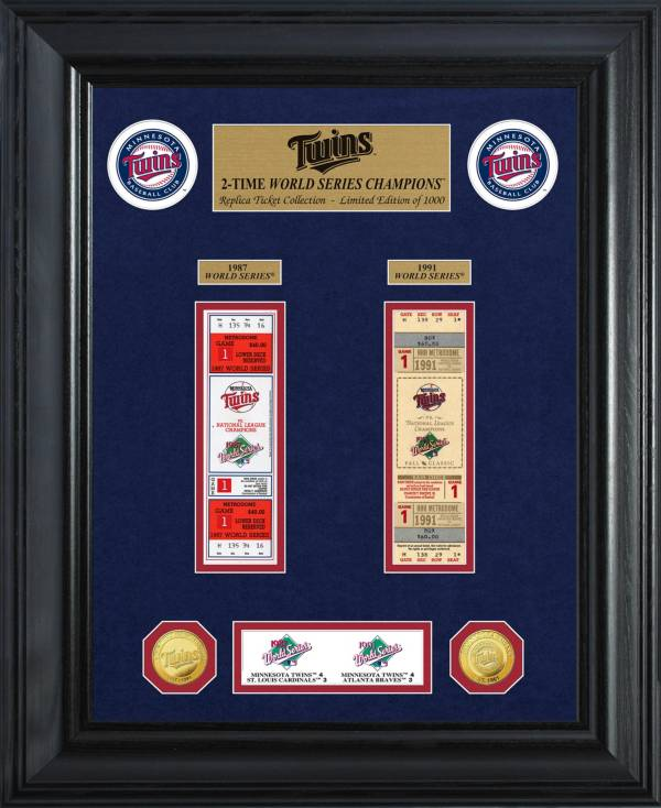 Highland Mint Minnesota Twins World Series Deluxe Gold Coin & Ticket Collection product image