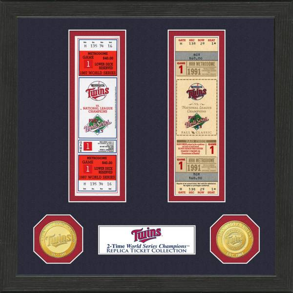 Highland Mint Minnesota Twins World Series Ticket Collection product image