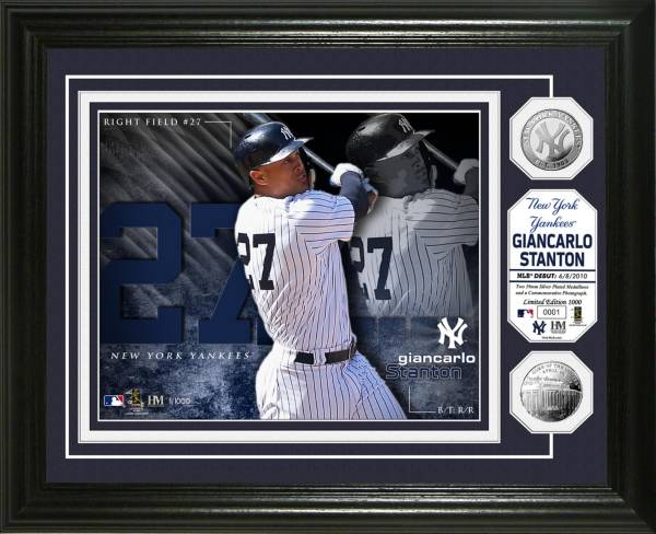 Highland Mint New York Yankees Giancarlo Stanton Silver Coin Photo Mint product image