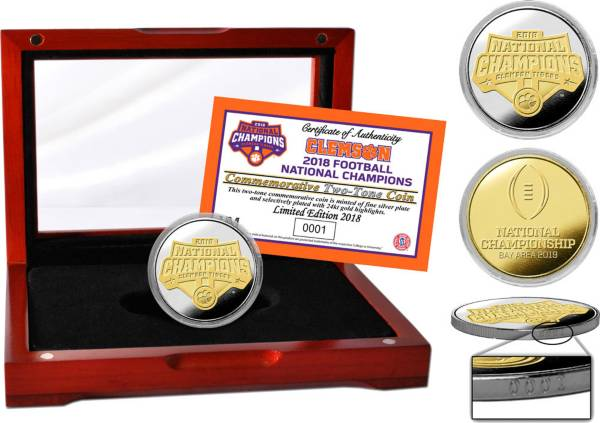 Highland Mint 2018 National Champions Clemson Tigers Two-Tone Mint Coin product image