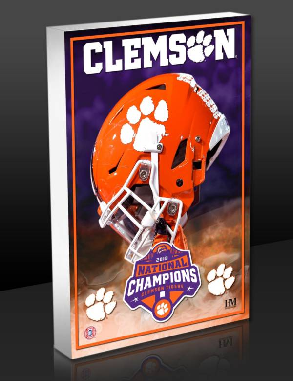 Highland Mint 2018 National Champions Clemson Tigers Art Block product image