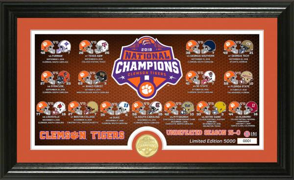 Highland Mint 2018 National Champions Clemson Tigers Season Scores Pano Photo Mint product image