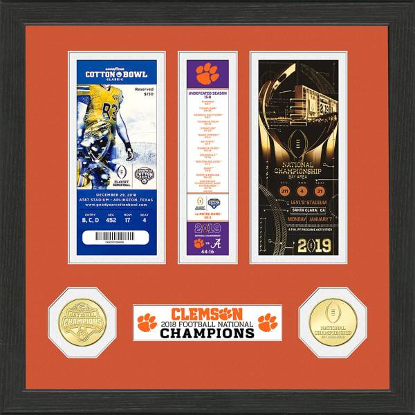 Highland Mint 2018 National Champions Clemson Tigers Ticket Collection product image