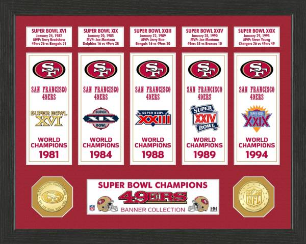 Highland Mint San Francisco 49ers Super Bowl Banner Collection Photo Mint product image