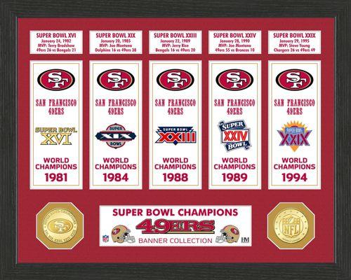 d146b4d22b1 Highland Mint San Francisco 49ers Super Bowl Banner Collection Photo ...