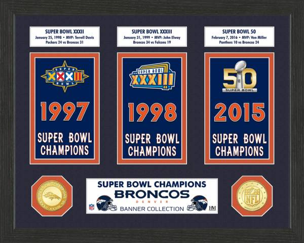 Highland Mint Denver Broncos Super Bowl Banner Collection Photo Mint product image