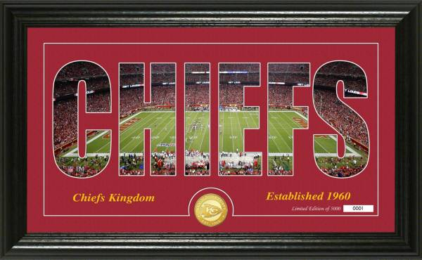 "Highland Mint Kansas City Chiefs ""Silhouette"" Panoramic Bronze Coin Photo Mint product image"