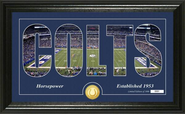 """Highland Mint Indianapolis Colts """"Silhouette"""" Panoramic Bronze Coin Photo Mint product image"""