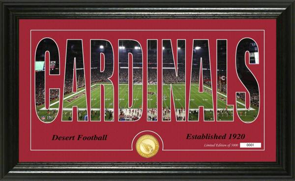 "Highland Mint Arizona Cardinals ""Silhouette"" Panoramic Bronze Coin Photo Mint product image"