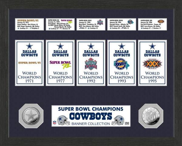 Highland Mint Dallas Cowboys Super Bowl Banner Collection Photo Mint product image