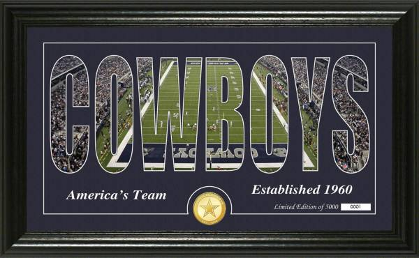 "Highland Mint Dallas Cowboys ""Silhouette"" Panoramic Bronze Coin Photo Mint product image"