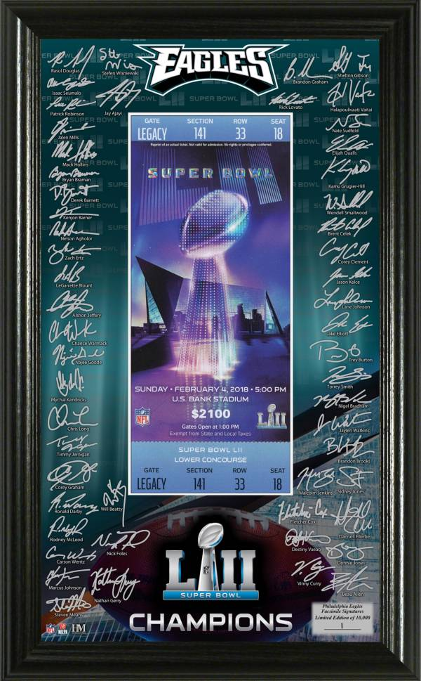 Highland Mint Super Bowl LII Champions Philadelphia Eagles Signature Ticket Frame product image