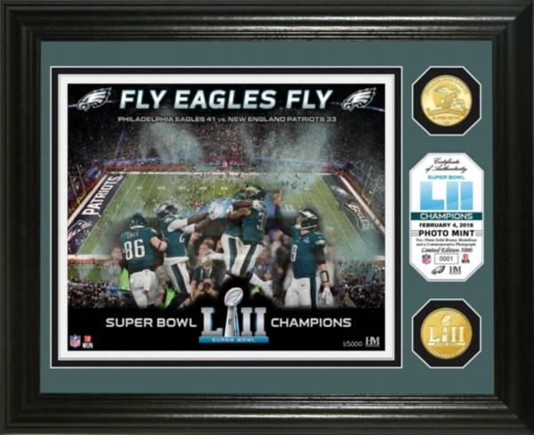 Highland Mint Super Bowl LII Champions Philadelphia Eagles Celebration Bronze Coin Photo Mint product image