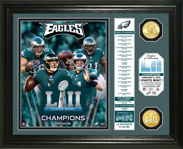 Highland Mint Super Bowl LII Champions Philadelphia Eagles Banner Bronze Coin Photo Mint product image