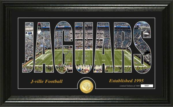 """Highland Mint Jacksonville Jaguars """"Silhouette"""" Panoramic Bronze Coin Photo Mint product image"""