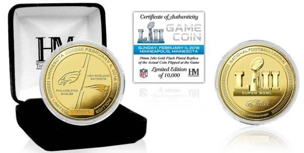 Highland Mint Super Bowl LII Dueling Gold Flip Coin product image