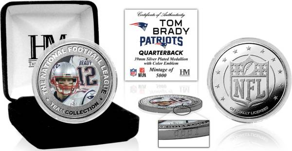 Highland Mint New England Patriots Tom Brady Silver Color Coin product image