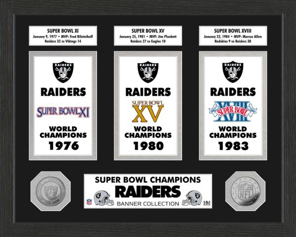 Highland Mint Las Vegas Raiders Super Bowl Banner Collection Photo Mint Dick S Sporting Goods