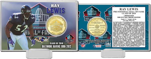 Highland Mint Baltimore Ravens Ray Lewis 2018 Pro Football Hall of Fame Induction Bronze Coin Card product image
