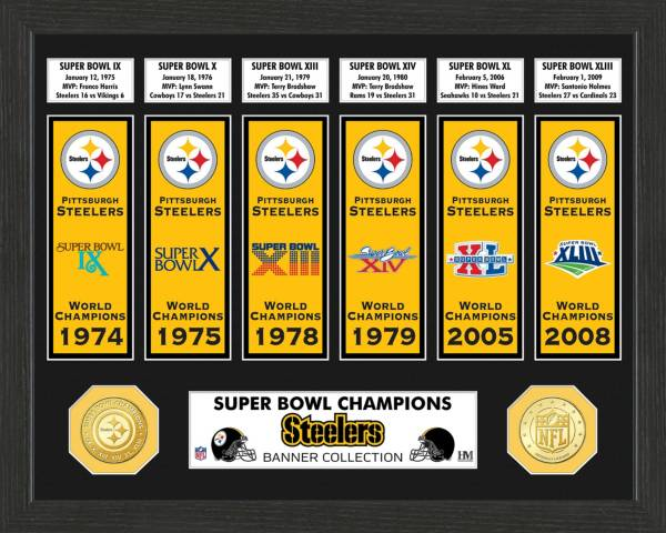 Highland Mint Pittsburgh Steelers Super Bowl Banner Collection Photo Mint product image