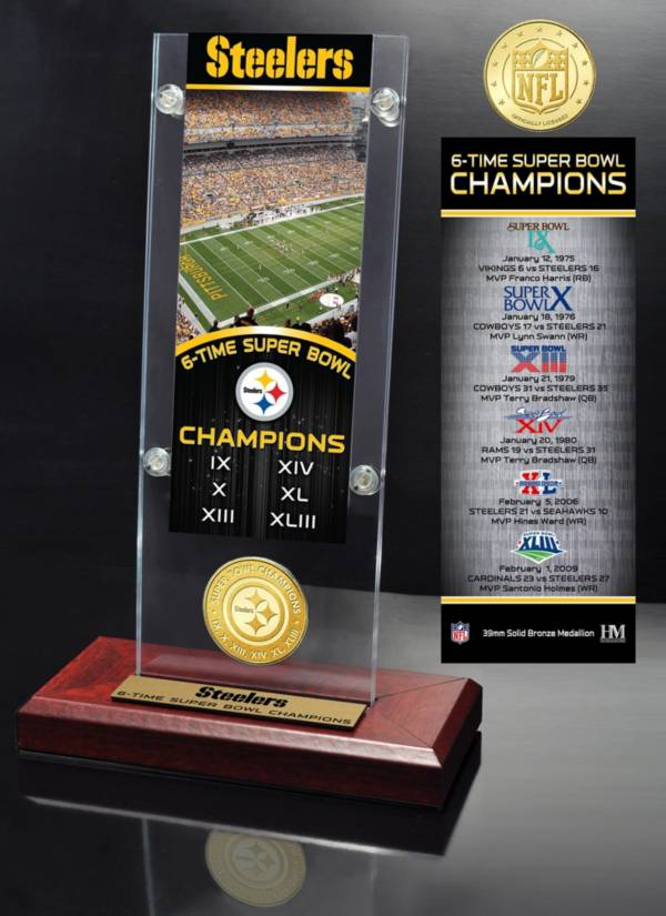 Highland Mint Pittsburgh Steelers Super Bowl Champions Ticket & Minted Coin Acrylic Desktop Display product image