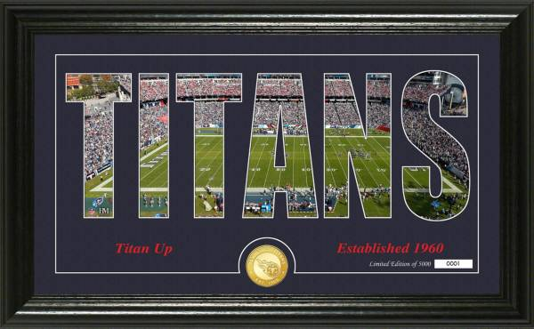 "Highland Mint Tennessee Titans ""Silhouette"" Panoramic Bronze Coin Photo Mint product image"
