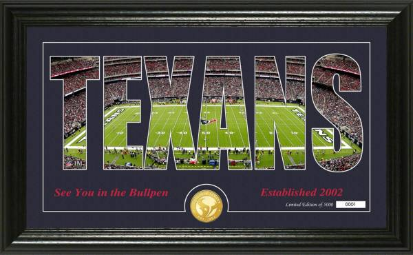 "Highland Mint Houston Texans ""Silhouette"" Panoramic Bronze Coin Photo Mint product image"