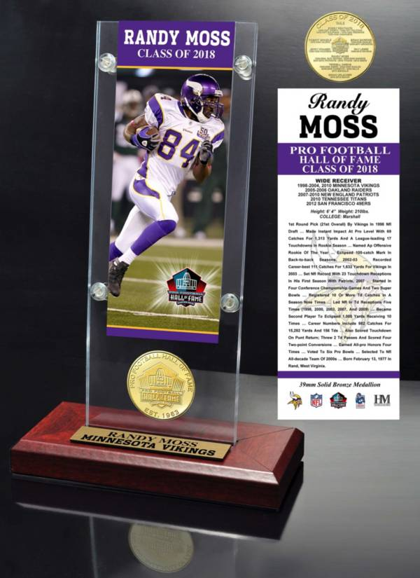 Highland Mint Minnesota Vikings Randy Moss 2018 Pro Football Hall of Fame Induction Ticket & Coin Acrylic Desktop Display product image
