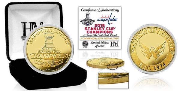Highland Mint 2018 Stanley Cup Champions Washington Capitals Gold Mint Coin product image