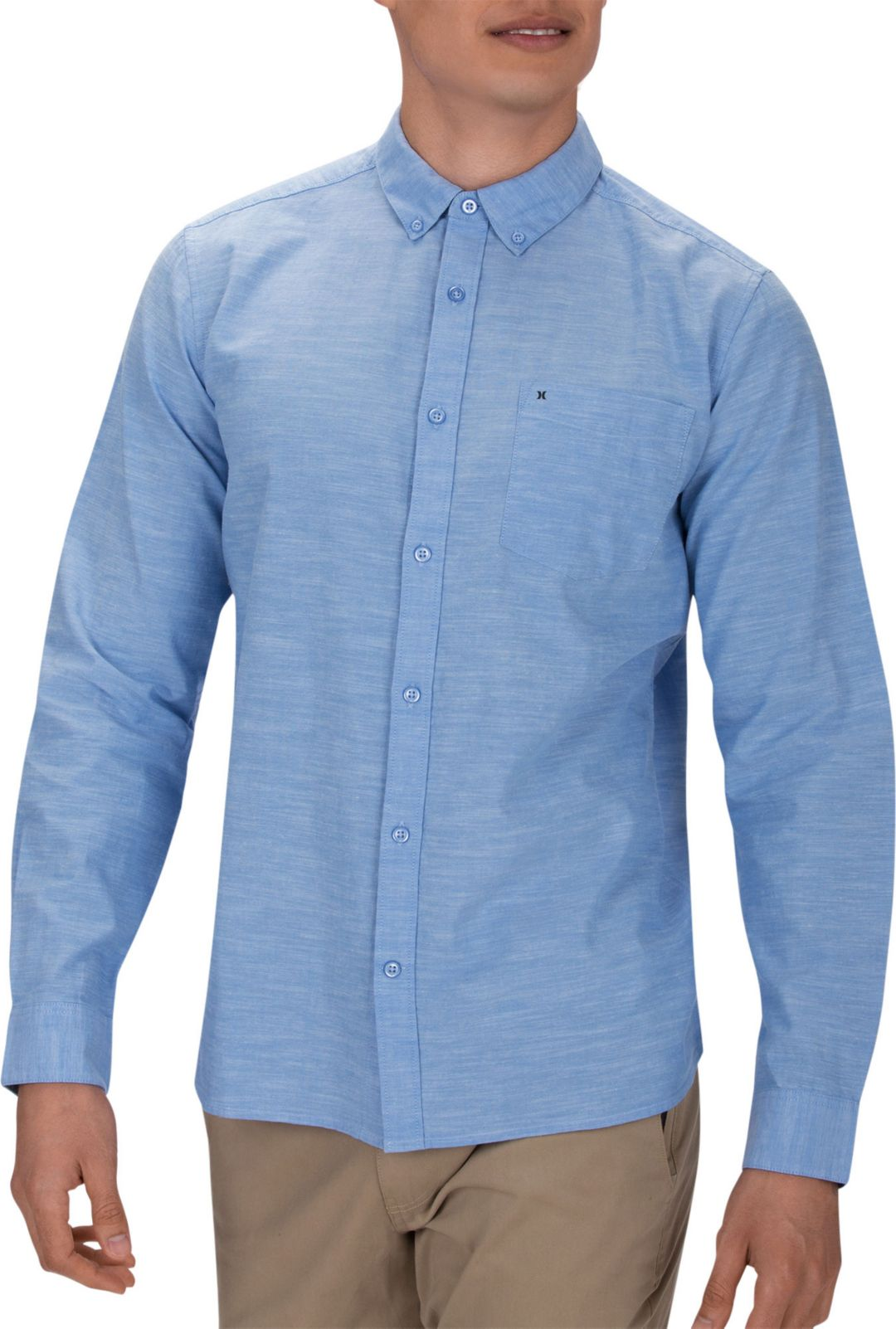 31062befc3 Hurley Men's One & Only 2.0 Woven Long Sleeve Shirt