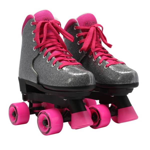 Circle Society Girls' Bling Sizzling Pink Quad Roller Skates product image