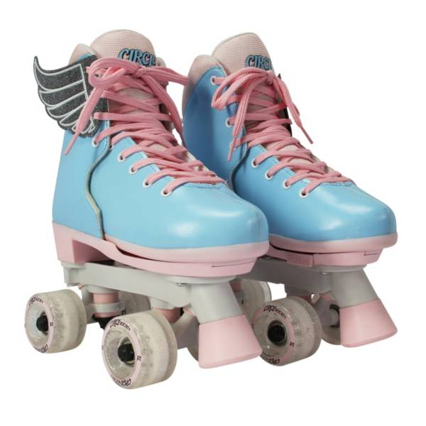 Circle Society Girls' Classic Cotton Candy Quad Roller Skates product image