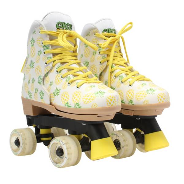 Circle Society Girls' Craze Crushed Pineapple Quad Roller Skates product image