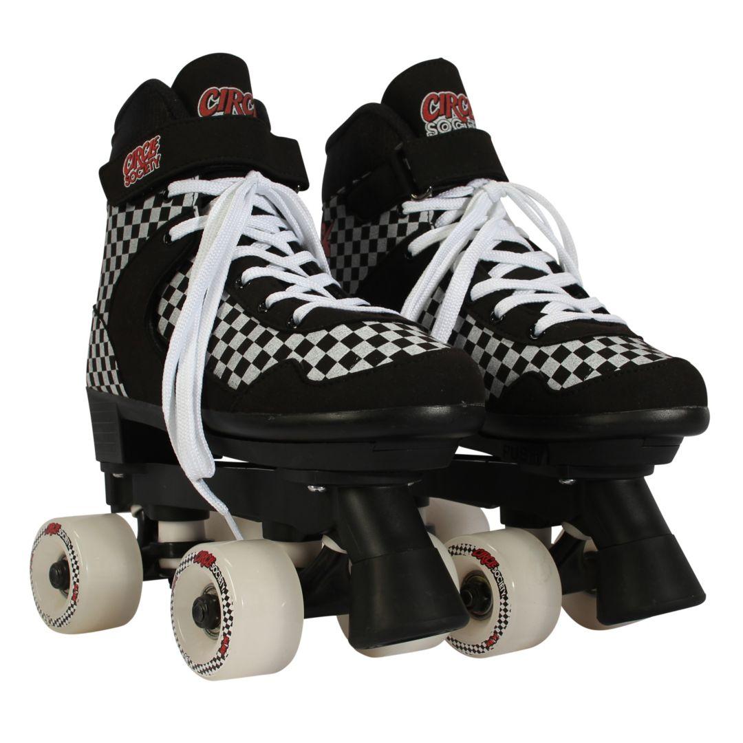 Circle Society Street Checkered Quad Roller Skates