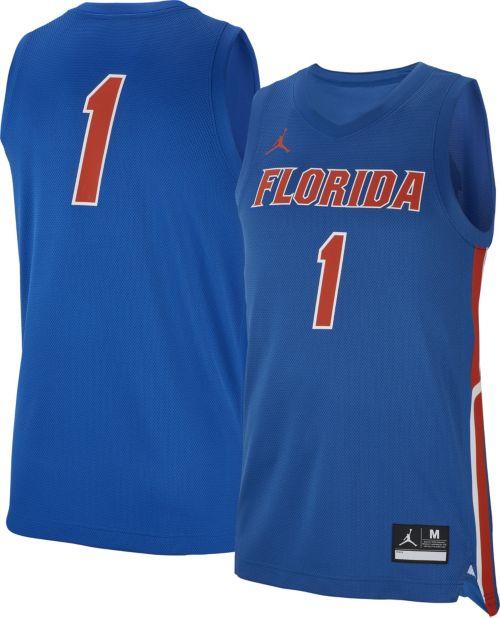 9c90abaf58d Jordan Men s Florida Gators Blue  1 Replica Basketball Jersey.  noImageFound. Previous