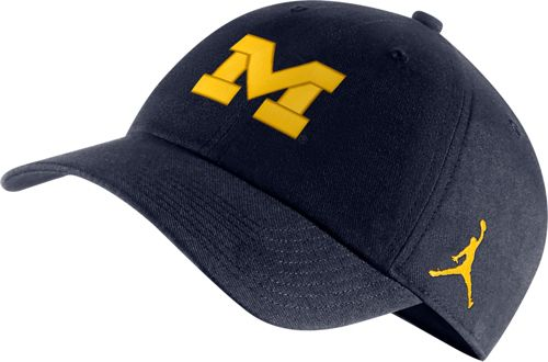 76f8a82d06c Jordan Men's Michigan Wolverines Blue Heritage86 Logo Hat   DICK'S ...