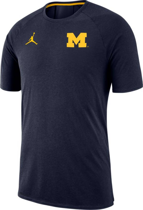 Jordan Men's Michigan Wolverines Blue Dri-FIT 23 Alpha T-Shirt product image
