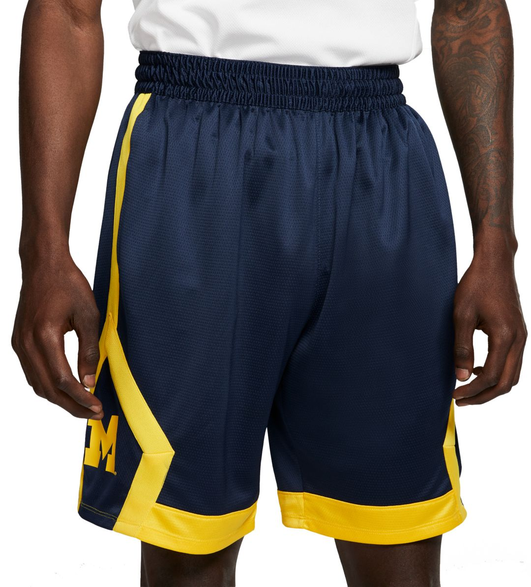 d1c1e9bd453 Jordan Men's Michigan Wolverines Blue Knit Shorts | DICK'S Sporting ...