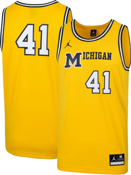 790f8c08d9c Jordan Men s Michigan Wolverines  41 Maize Retro Replica Basketball ...